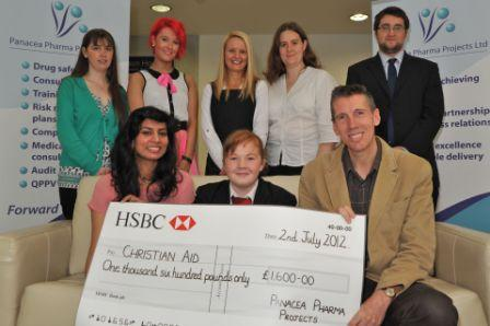 Panacea team step forward to raise funds for Christian Aid