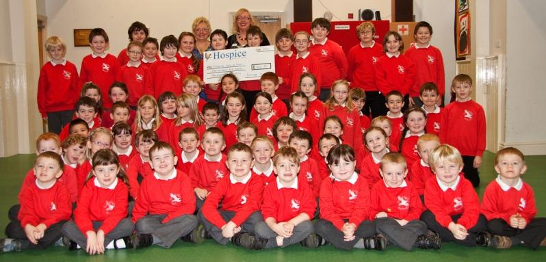 island hospice receives donations from school pupils