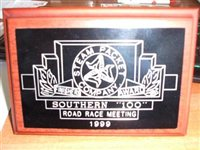 Southern 100 Finishers Plaque Draw