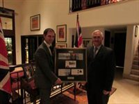 Presentation made to Chief Executive Officer of Panama Canal Authority to mark centenary