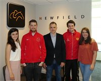 Newfield helps team members achieve Island Games goals