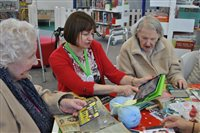 Manx Lottery Trust funded iPads assisting during therapy for older people
