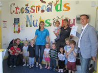 It's all smiles at Crossroads' Nursery