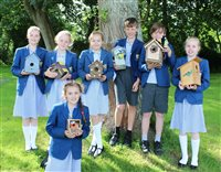New bird boxes, hedgehog houses and insect hotels for the Buchan Eco-School