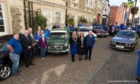 Driving twinning links: Civic welcome for Ballymoney Old Vehicle Club members