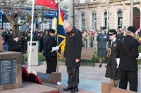 Ramsey Civic Service of Remembrance attended by HE the Lieutenant Governor