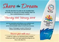 Gala dinner to celebrate 60 years of the Isle of Man competing in the Commonwealth Games