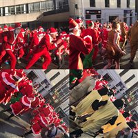 Santas spread festive cheer around Douglas!