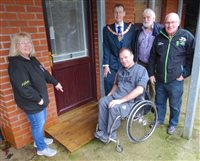 Donation helps access at Joey Dunlop Foundation's apartments