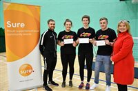 Young sports coaches rewarded by Sure Isle of Man