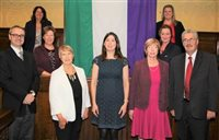 Island hosts UK suffragette flag