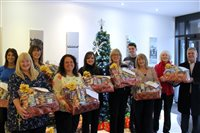 Staff rally to generate luxury festive hampers