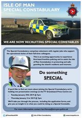 Hunt on for more Special Constables to join Island's police force