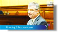 Planning Policy: statement by the Minister for Policy and Reform