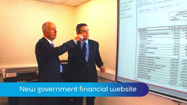 Preview of - New government financial website