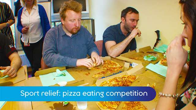 Preview of - Sport relief: pizza eating competition