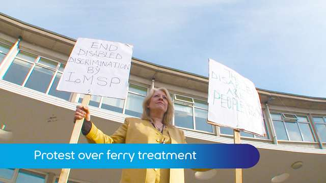 Preview of - Protest over ferry treatment