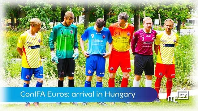 Preview of - ConIFA Euros: Team Ellan Vannin arrive