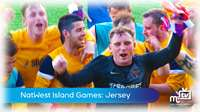 Island Games: mens football vs Jersey