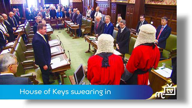 Preview of - Manx language commentary: MHK's swearing in