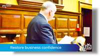 Restore business confidence