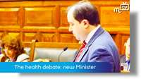Health service debate: new Minister