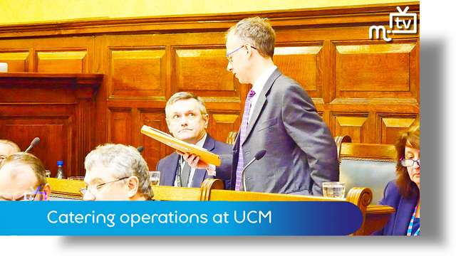 Preview of - March Tynwald: catering operations at UCM