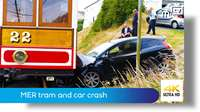 MER tram and car crash