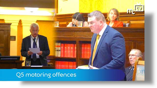 Preview of - Tynwald Oct 18: Q5 motoring offences