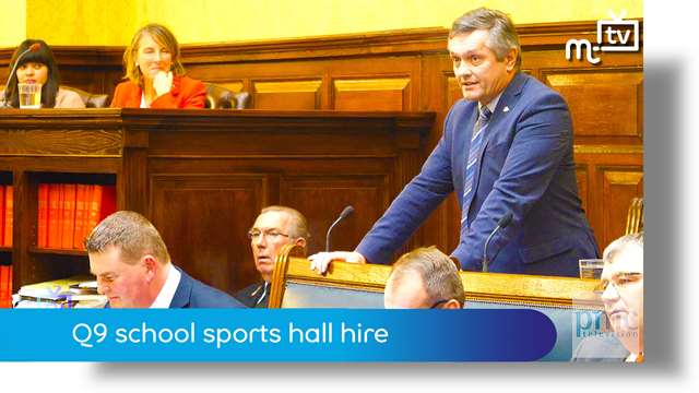 Preview of - Tynwald Oct 18: Q9 school sports hall hire