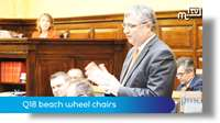 Tynwald Oct 18: Q18 beach wheel chairs