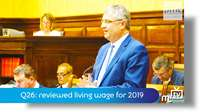 Q26: reviewed living wage for 2019