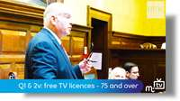 Q1 & 2: free TV licences - 75 and over