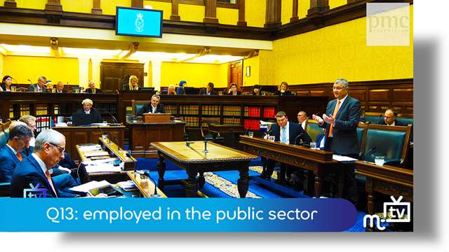 Preview of - Q13: employed in the public sector