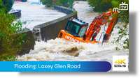 Flooding: Laxey Glen Road