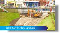PMC-TV archive: Port St Mary landslide 18.1.2010