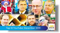 Top ten most viewed on YouTube: December 2019