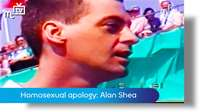 Homosexual apology: Alan Shea
