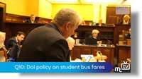 Q10: DoI policy on student bus fares