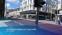 Lord Street reopens to 2 way traffic