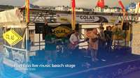 Port Erin live music beach stage