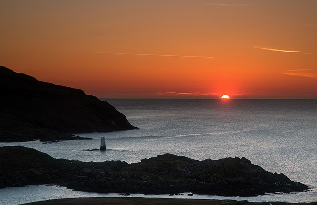 Calf Of Man Sunset