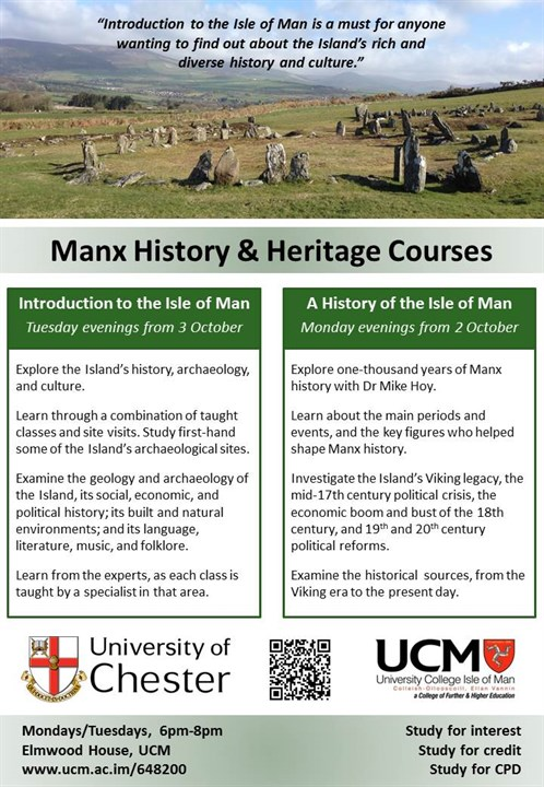 Manx History & Heritage Evening Classes